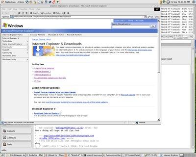 MS Internet Explorer 6 Dijalankan pada CentOS 4