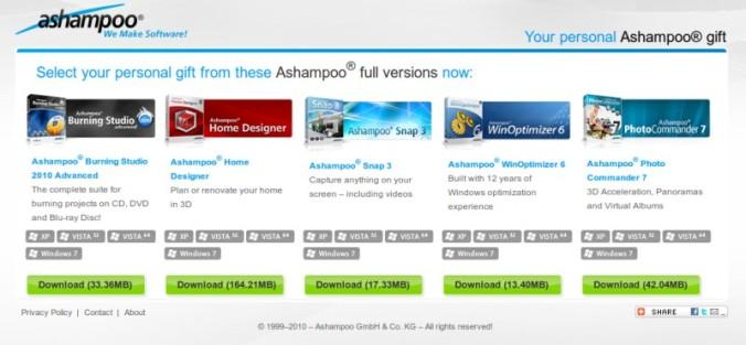 Lima Program Gratis dari Ashampoo