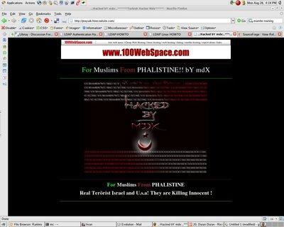 Tampilan Situs Setelah Kena Deface (di-hack)