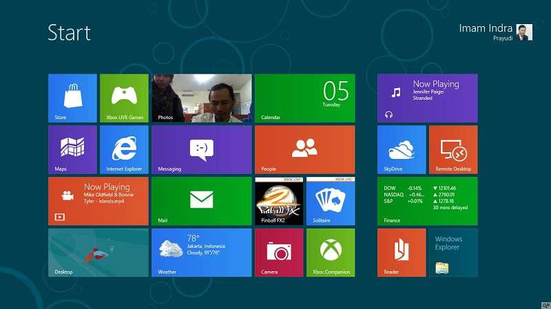 Mencoba windows 8 (consumer preview)